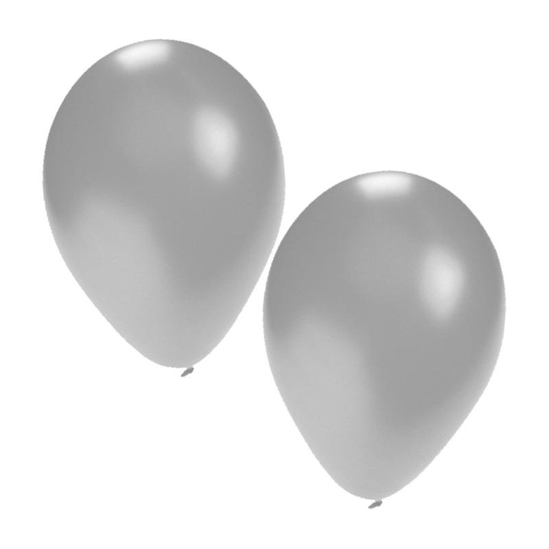 Ballonnen zakje zilver 2aantal 5