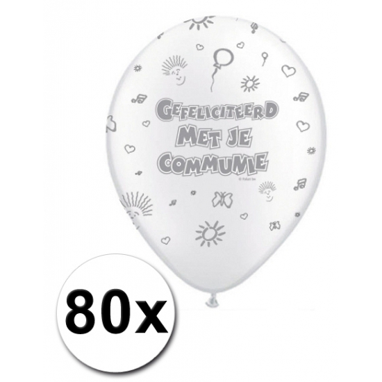 80 Communie ballonnen 30 cm