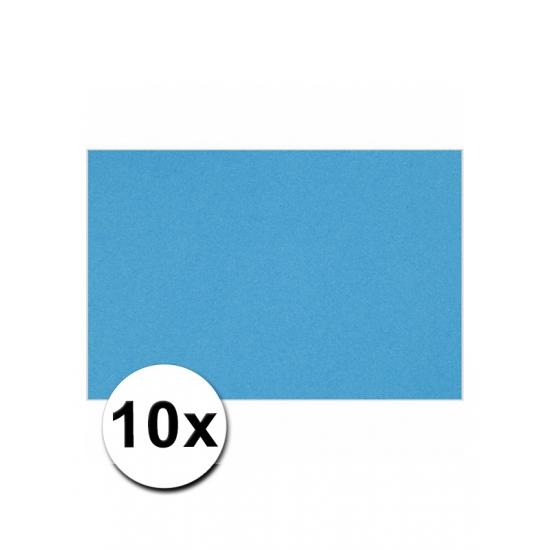 A4 hobby karton turquoise 10 stuks