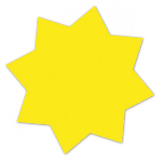 Actie sterren neongeel 18 cm