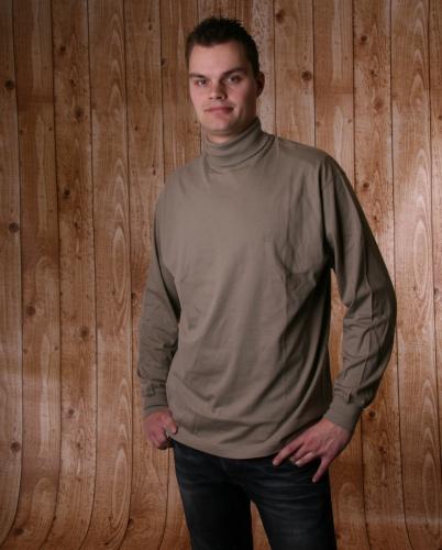 Alan Red col shirt donker khaki