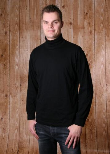 Alan Red col shirt zwart
