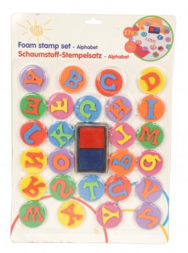 Alfabet stempel set van foam