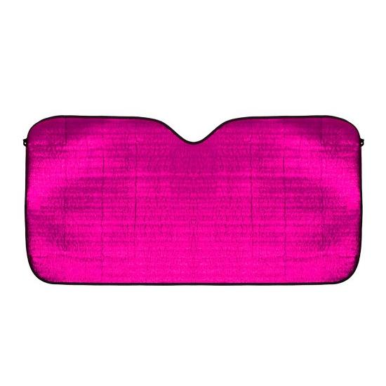 Aluminium auto zonnescherm roze