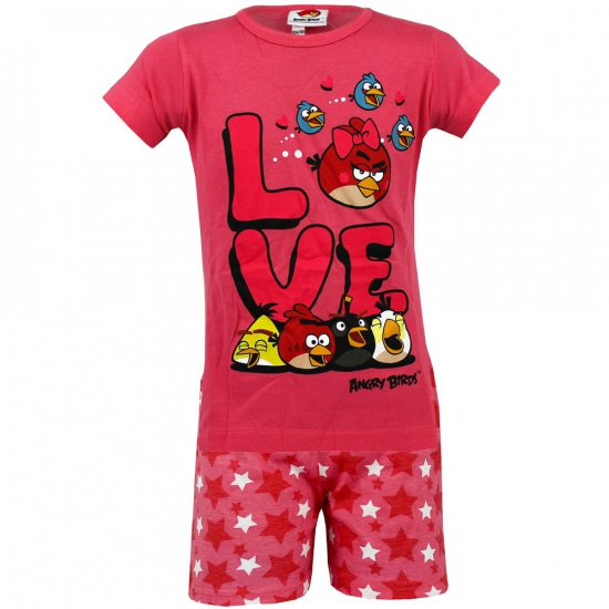Angry Birds korte pyjama kinderen roze