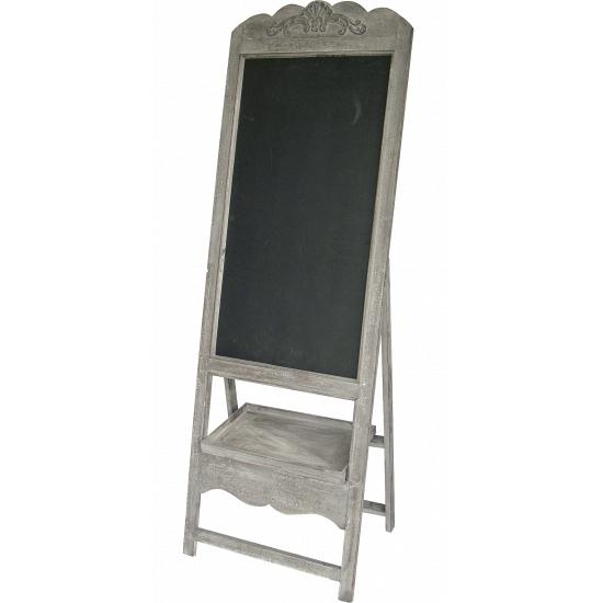 Antiek grijs krijtbord van hout