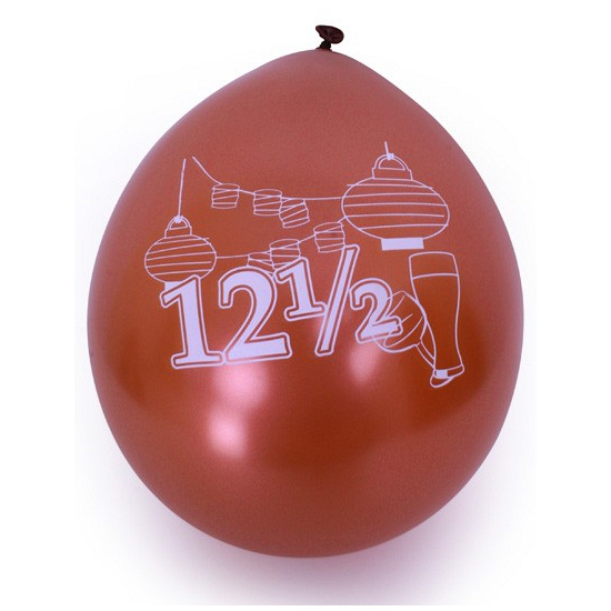 Ballonnen 12 5 jaar opdruk