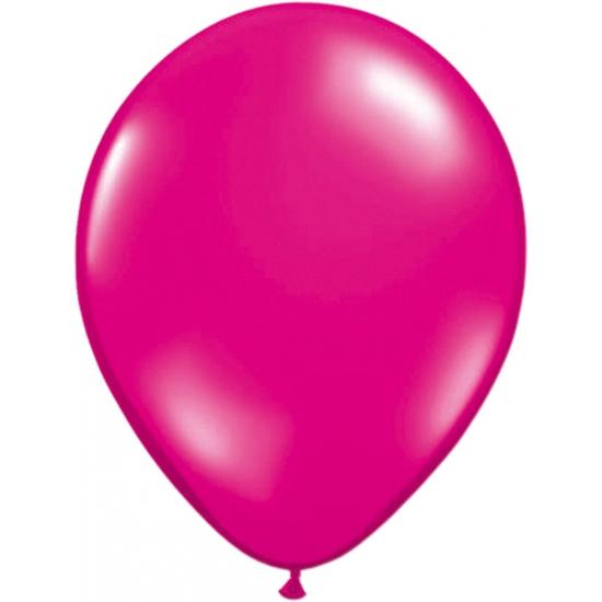Ballonnen magenta roze 50 stuks