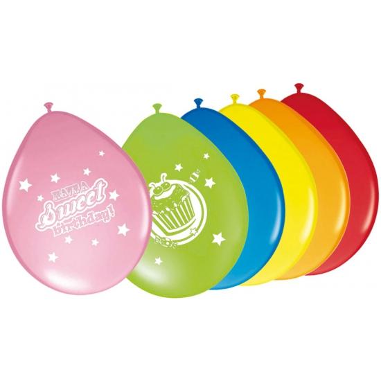 Ballonnen verjaardag 8 stuks