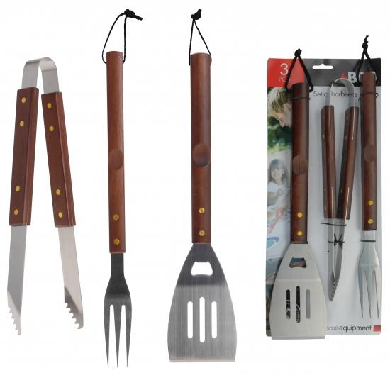Barbecue set met vork tang en spatel