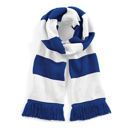 Beechfield retro sjaal blauw/wit