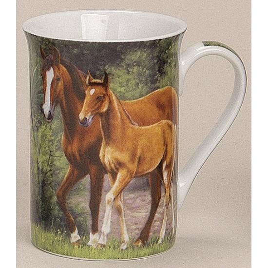Beker met moeder paard en veulen model 3