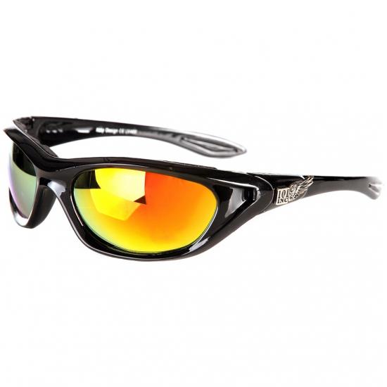 Biker zonnebril met zwart montuur