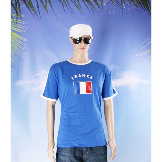 Blauwe wit t shirt frankrijk