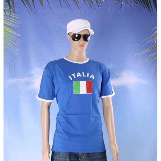 Blauwe wit t shirt italie heren