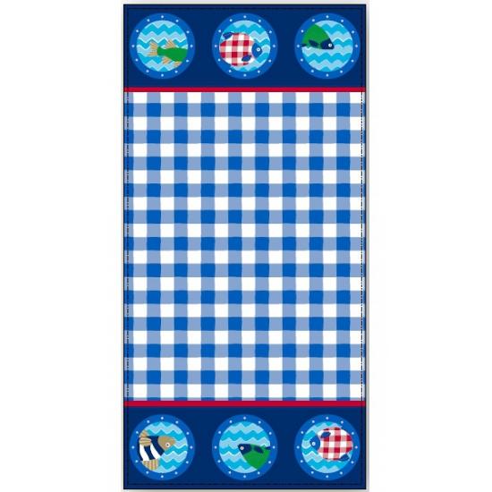 Blauw Lief! badlaken 75 x 150 cm