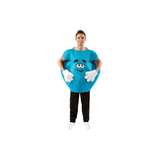 Blauw M en M kostuum volwassenen