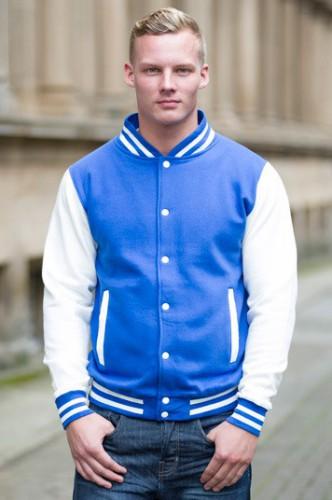 Blauw met wit jacket voor heren