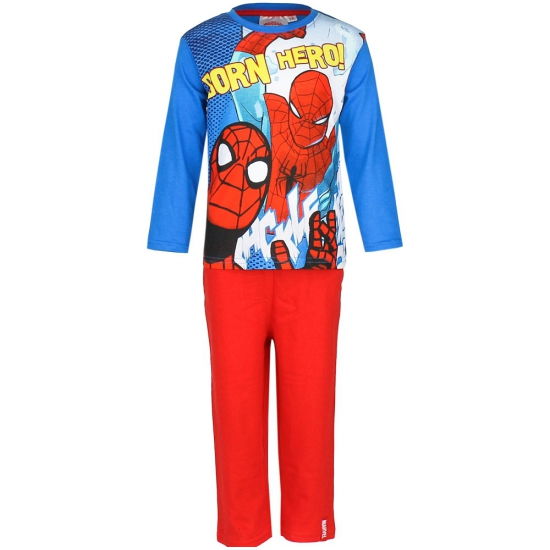 Blauw rode kinder pyjama Spiderman