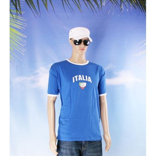 Blauwe wit shirt italia