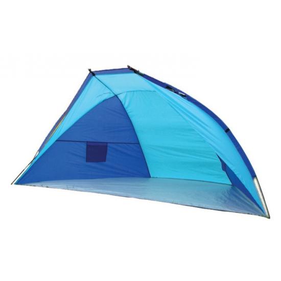 Blauw windscherm strandtentje