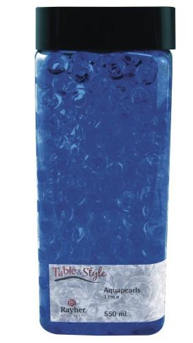 Blauwe aqua pearls 1 cm