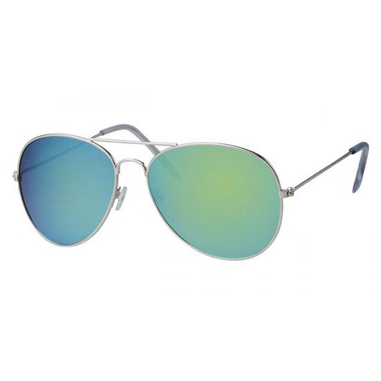 Blauwe aviator zonnebril