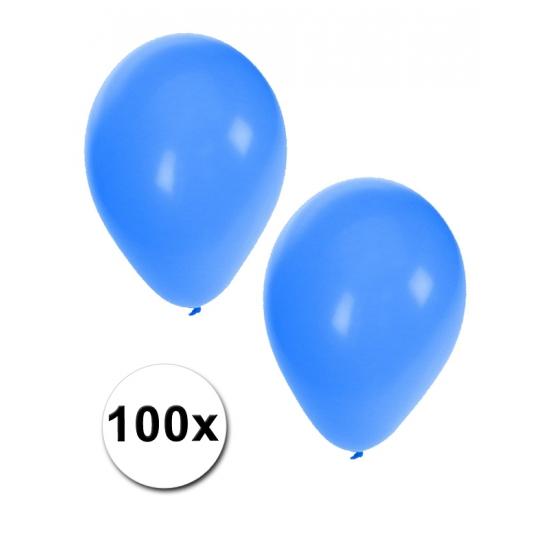 Decoratie ballonnen blauw aantal 100