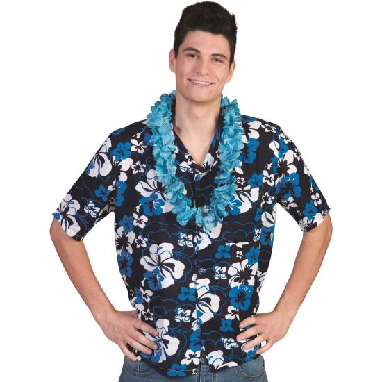 Blauwe Hawaii blouse Honolulu