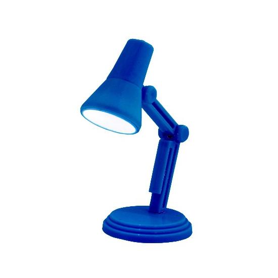 Blauwe leeslamp op batterijen