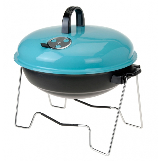 Blauwe reisbarbecue 36 cm