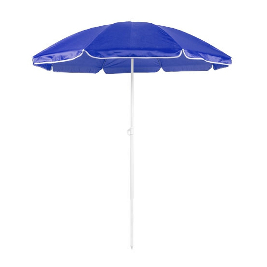 Blauwe strand parasol