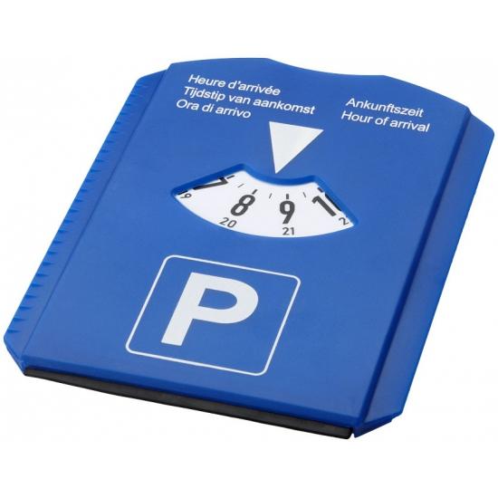 Blauwe vrij parkeren kaart/schijf