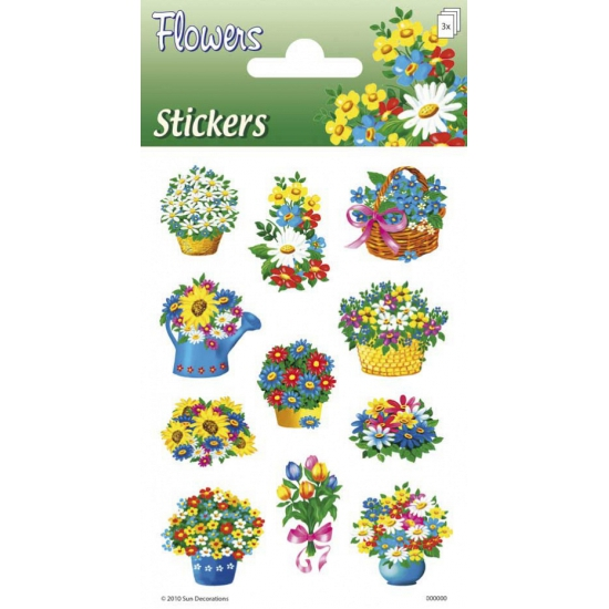 Bloem stickers 3 velletjes