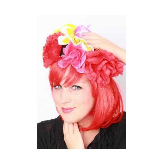 Carnavals bloemen hoed