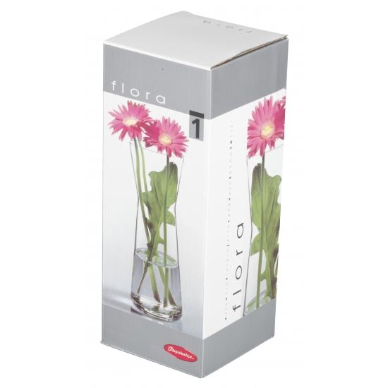 Bloemenvaas helder glas 26 cm