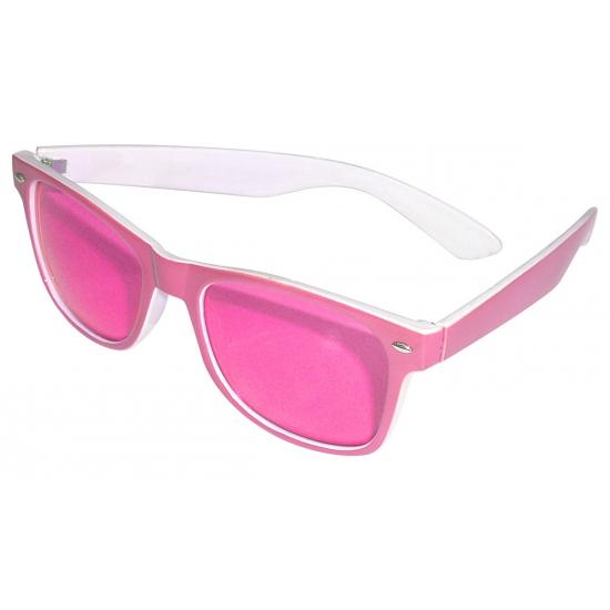 Fop brillen zwart gebroken glazen
