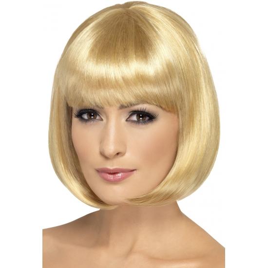 Bobline pruik goudblond voor dames