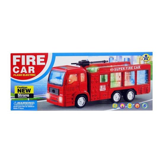 Brandweerwagen met licht en geluid