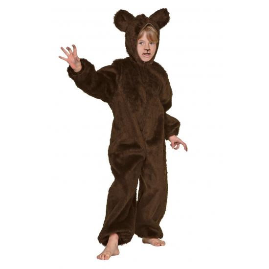 Pluche bruine beren kinder kleding