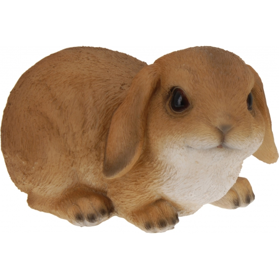 Bruin konijn beeldje 28 cm