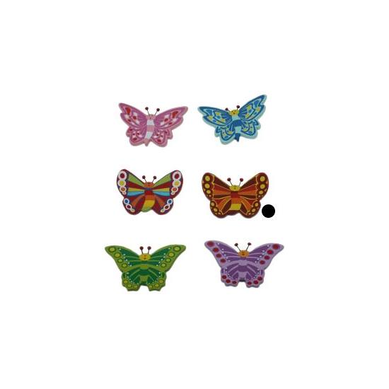 Bruine vlinder van hout