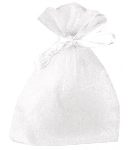 Cadeau zakjes wit van organza