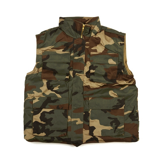 Camouflage bodywarmer voor heren
