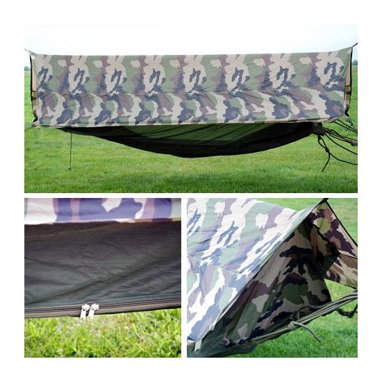 Camouflage hangmat voor in het bos