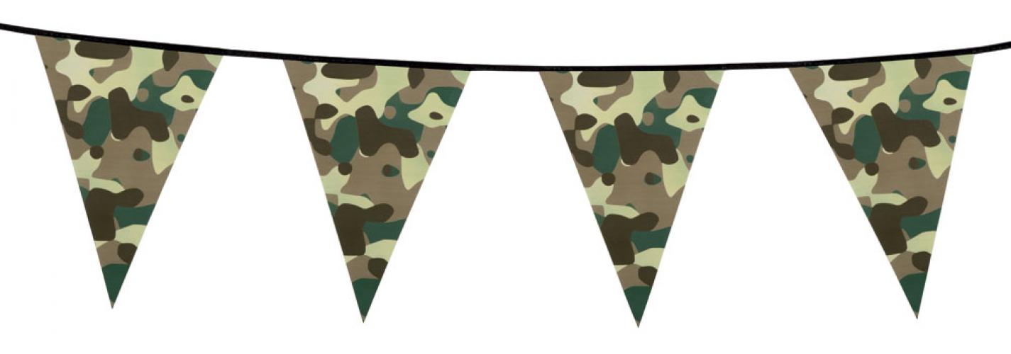 Camouflage vlaggenlijn 6 meter