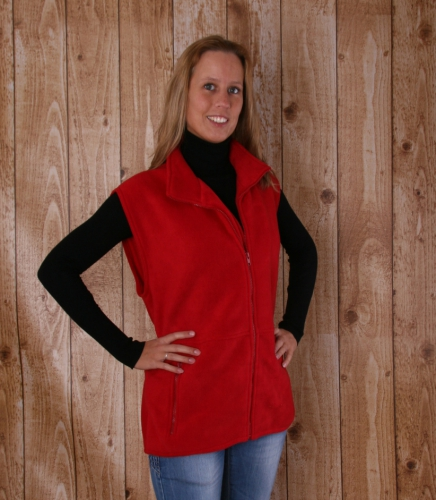 Camping fleece bodywarmer voor dames