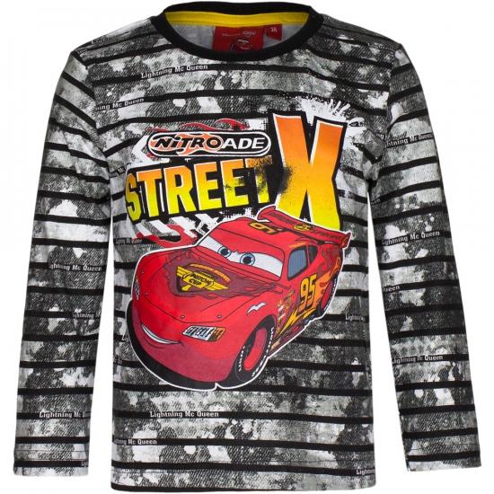 Cars t shirt zwart met grijs