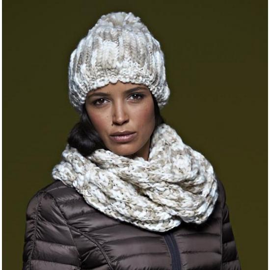Casual gebreide sjaal naturel