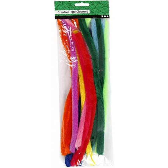 Chenilledraad kleuren 30 cm 25 stuks